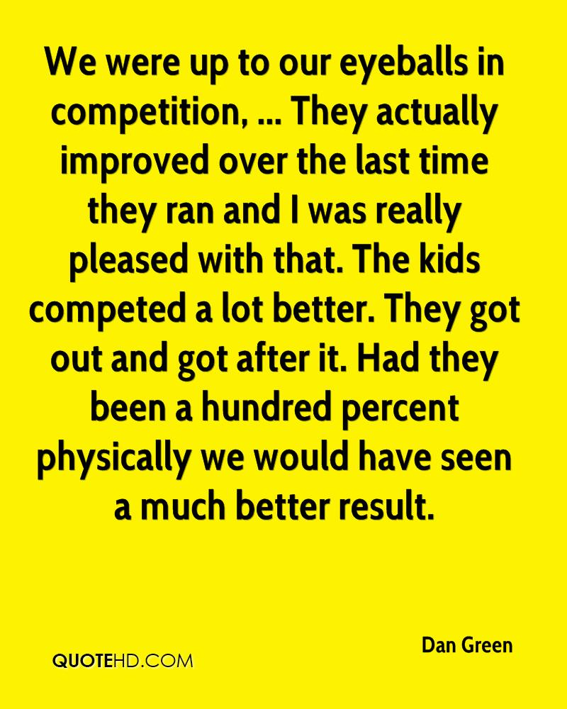 We were up to our eyeballs in competition, ... They actually improved over the last time they ran and I was really pleased with that. The kids competed a lot better. They got out and got after it. Had they been a hundred percent physically we would have seen a much better result.