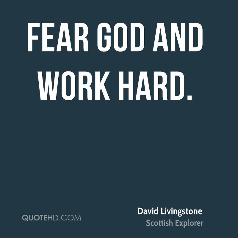 God Fearing Quotes And Sayings: David Livingstone Quotes