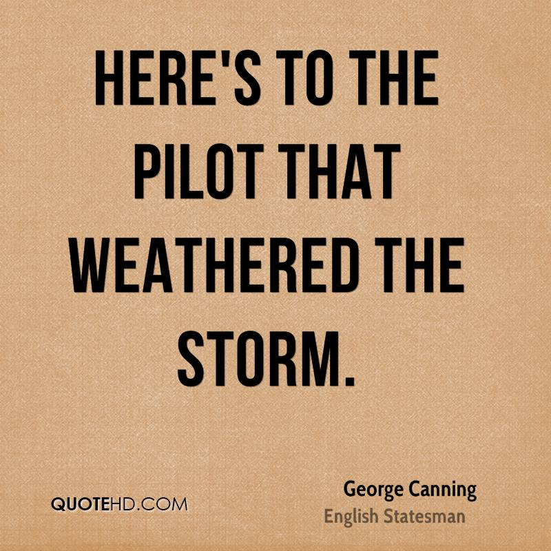 Here's to the pilot that weathered the storm.