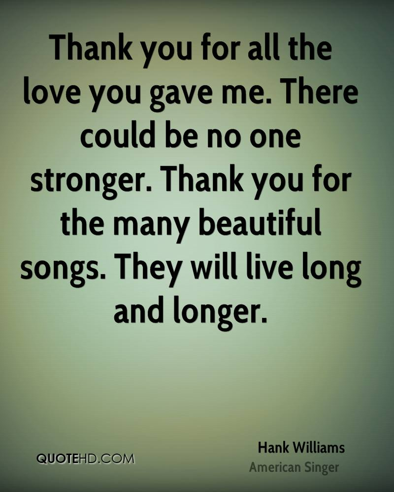 Love You Thank You Quotes Hank Williams Quotes  Quotehd