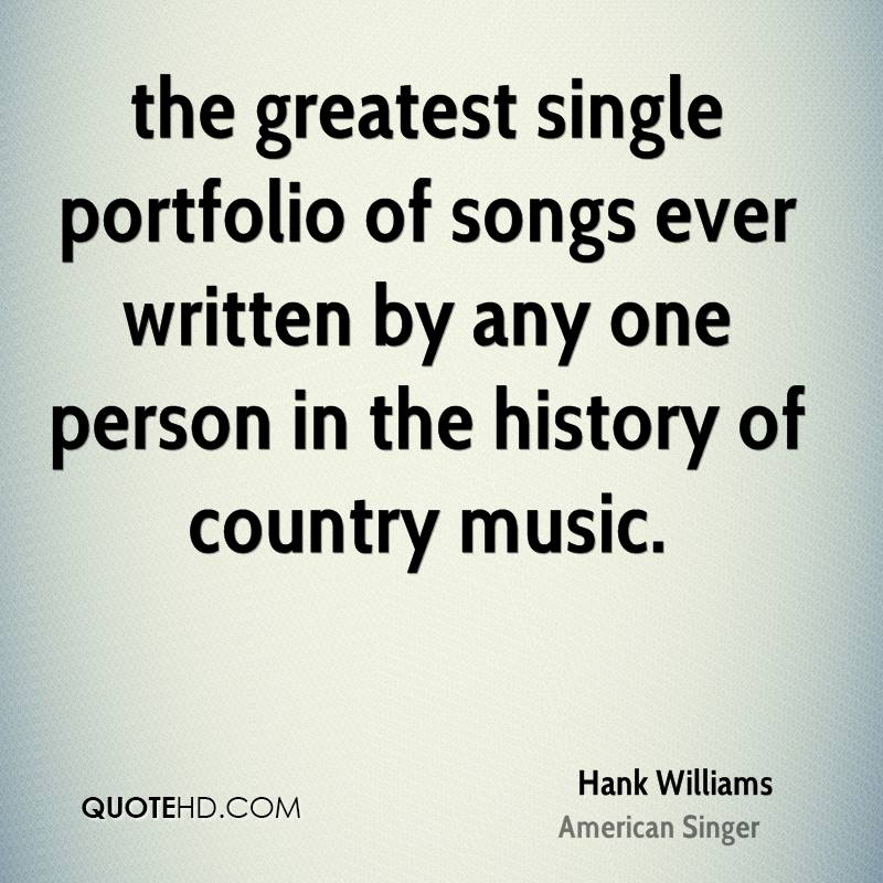 the greatest single portfolio of songs ever written by any one person in the history of country music.