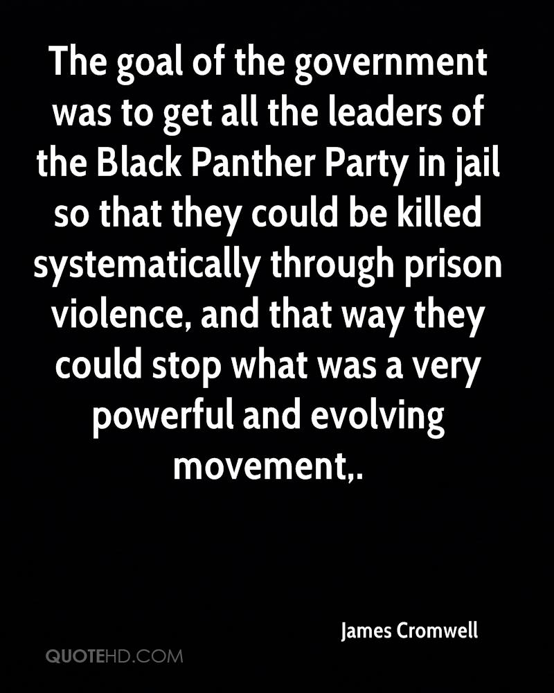 The goal of the government was to get all the leaders of the Black Panther Party in jail so that they could be killed systematically through prison violence, and that way they could stop what was a very powerful and evolving movement.