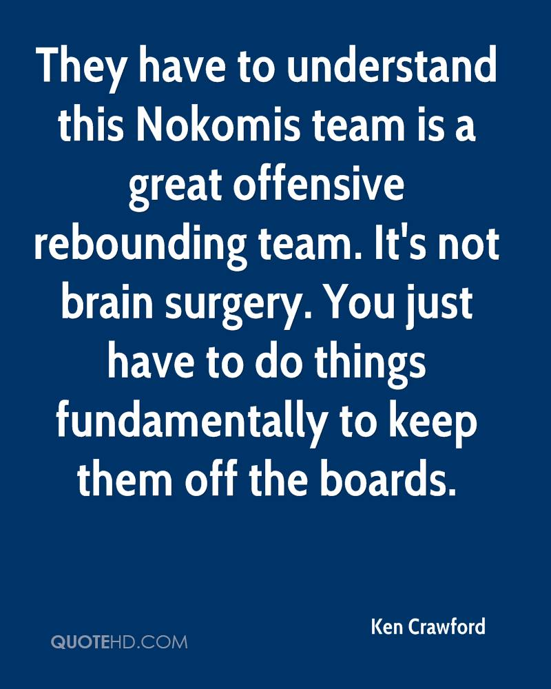 They have to understand this Nokomis team is a great offensive rebounding team. It's not brain surgery. You just have to do things fundamentally to keep them off the boards.