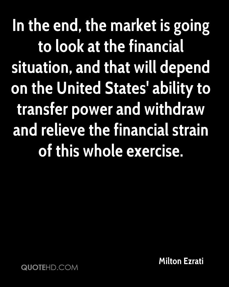 In the end, the market is going to look at the financial situation, and that will depend on the United States' ability to transfer power and withdraw and relieve the financial strain of this whole exercise.