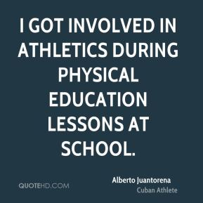I got involved in athletics during physical education lessons at school.