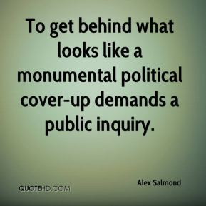 To get behind what looks like a monumental political cover-up demands a public inquiry.