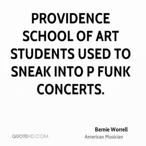 Bernie Worrell - Providence School of Art students used to sneak into P Funk concerts.