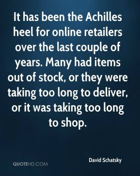 It has been the Achilles heel for online retailers over the last couple of years. Many had items out of stock, or they were taking too long to deliver, or it was taking too long to shop.