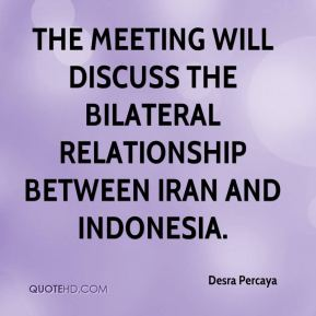 Desra Percaya - The meeting will discuss the bilateral relationship between Iran and Indonesia.
