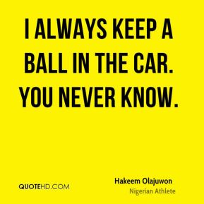 I always keep a ball in the car. You never know.