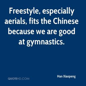 Freestyle, especially aerials, fits the Chinese because we are good at gymnastics.