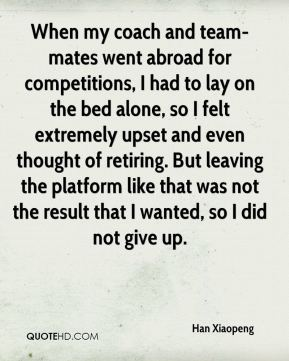 When my coach and team-mates went abroad for competitions, I had to lay on the bed alone, so I felt extremely upset and even thought of retiring. But leaving the platform like that was not the result that I wanted, so I did not give up.