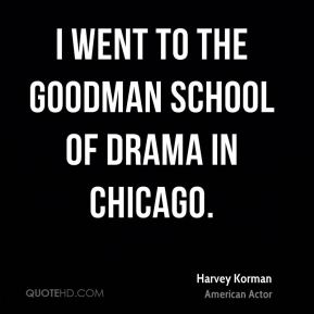 I went to the Goodman School of Drama in Chicago.