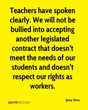Teachers have spoken clearly. We will not be bullied into accepting another legislated contract that doesn't meet the needs of our students and doesn't respect our rights as workers.