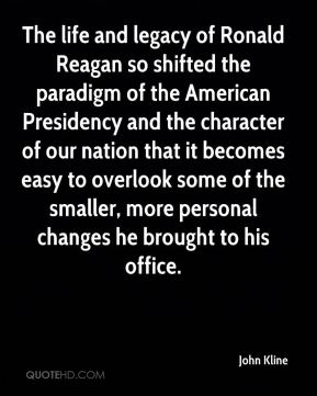The life and legacy of Ronald Reagan so shifted the paradigm of the American Presidency and the character of our nation that it becomes easy to overlook some of the smaller, more personal changes he brought to his office.