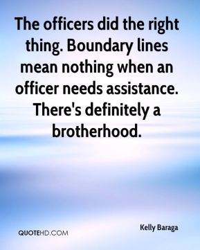 The officers did the right thing. Boundary lines mean nothing when an officer needs assistance. There's definitely a brotherhood.