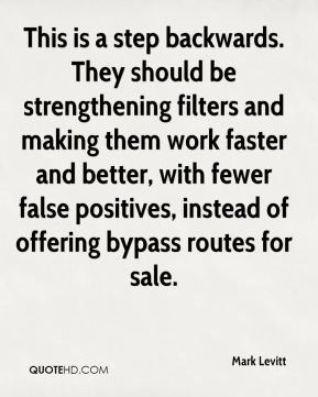 Mark Levitt  - This is a step backwards. They should be strengthening filters and making them work faster and better, with fewer false positives, instead of offering bypass routes for sale.
