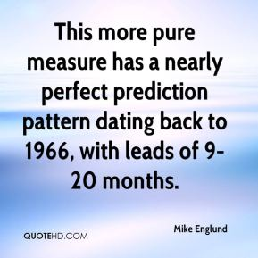 Mike Englund  - This more pure measure has a nearly perfect prediction pattern dating back to 1966, with leads of 9-20 months.