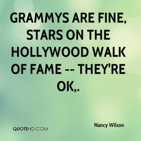 Grammys are fine, stars on the Hollywood Walk of Fame -- they're OK.