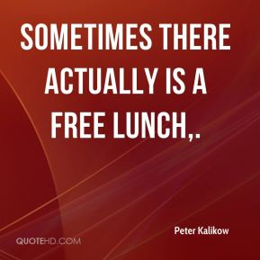 Sometimes there actually is a free lunch.