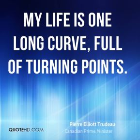 My life is one long curve, full of turning points.