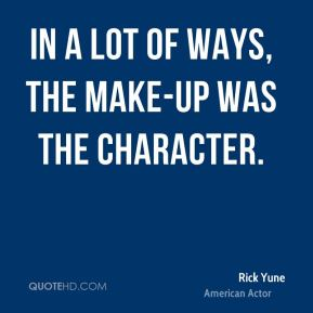 Rick Yune - In a lot of ways, the make-up was the character.