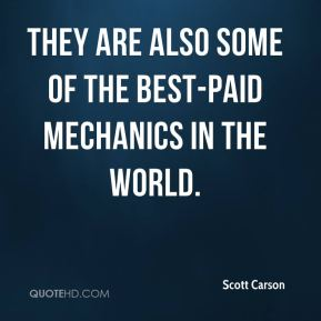 Scott Carson  - they are also some of the best-paid mechanics in the world.