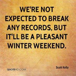 We're not expected to break any records, but it'll be a pleasant winter weekend.
