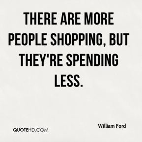 There are more people shopping, but they're spending less.