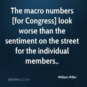 William Miller  - The macro numbers [for Congress] look worse than the sentiment on the street for the individual members.