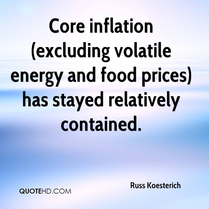 Core inflation (excluding volatile energy and food prices) has stayed relatively contained.