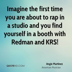 Imagine the first time you are about to rap in a studio and you find yourself in a booth with Redman and KRS!