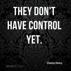They don't have control yet.