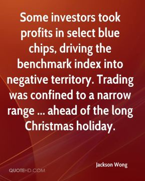 Jackson Wong - Some investors took profits in select blue chips, driving the benchmark index into negative territory. Trading was confined to a narrow range ... ahead of the long Christmas holiday.
