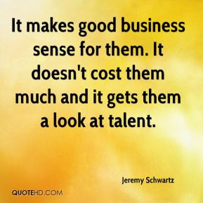 It makes good business sense for them. It doesn't cost them much and it gets them a look at talent.