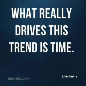 What really drives this trend is time.