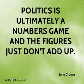 Politics is ultimately a numbers game and the figures just don't add up.