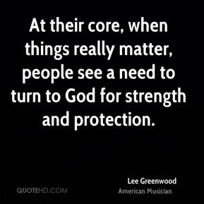 At their core, when things really matter, people see a need to turn to God for strength and protection.