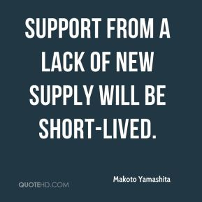 Support from a lack of new supply will be short-lived.