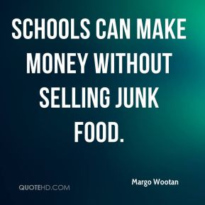 Schools can make money without selling junk food.