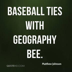 Baseball ties with geography bee.