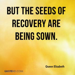 but the seeds of recovery are being sown.