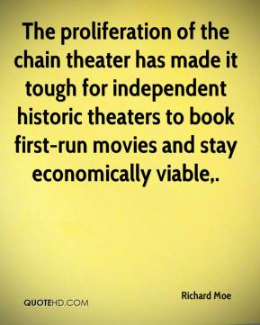 The proliferation of the chain theater has made it tough for independent historic theaters to book first-run movies and stay economically viable.