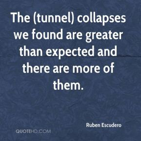 Ruben Escudero  - The (tunnel) collapses we found are greater than expected and there are more of them.