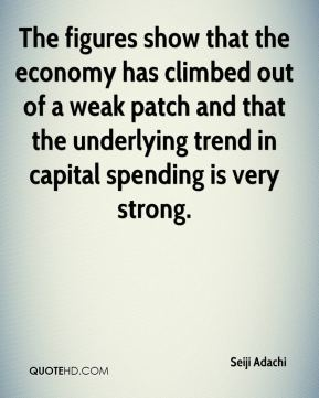 Seiji Adachi  - The figures show that the economy has climbed out of a weak patch and that the underlying trend in capital spending is very strong.