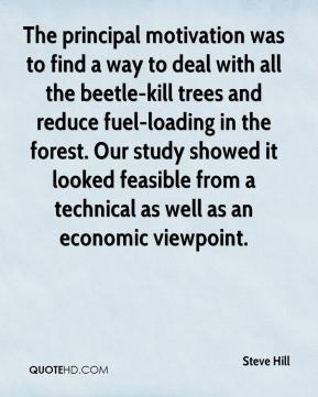 Steve Hill  - The principal motivation was to find a way to deal with all the beetle-kill trees and reduce fuel-loading in the forest. Our study showed it looked feasible from a technical as well as an economic viewpoint.
