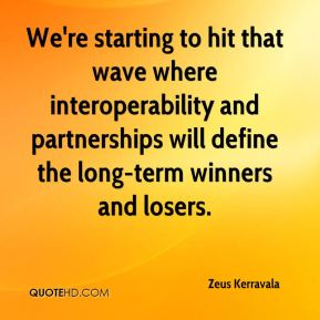 We're starting to hit that wave where interoperability and partnerships will define the long-term winners and losers.