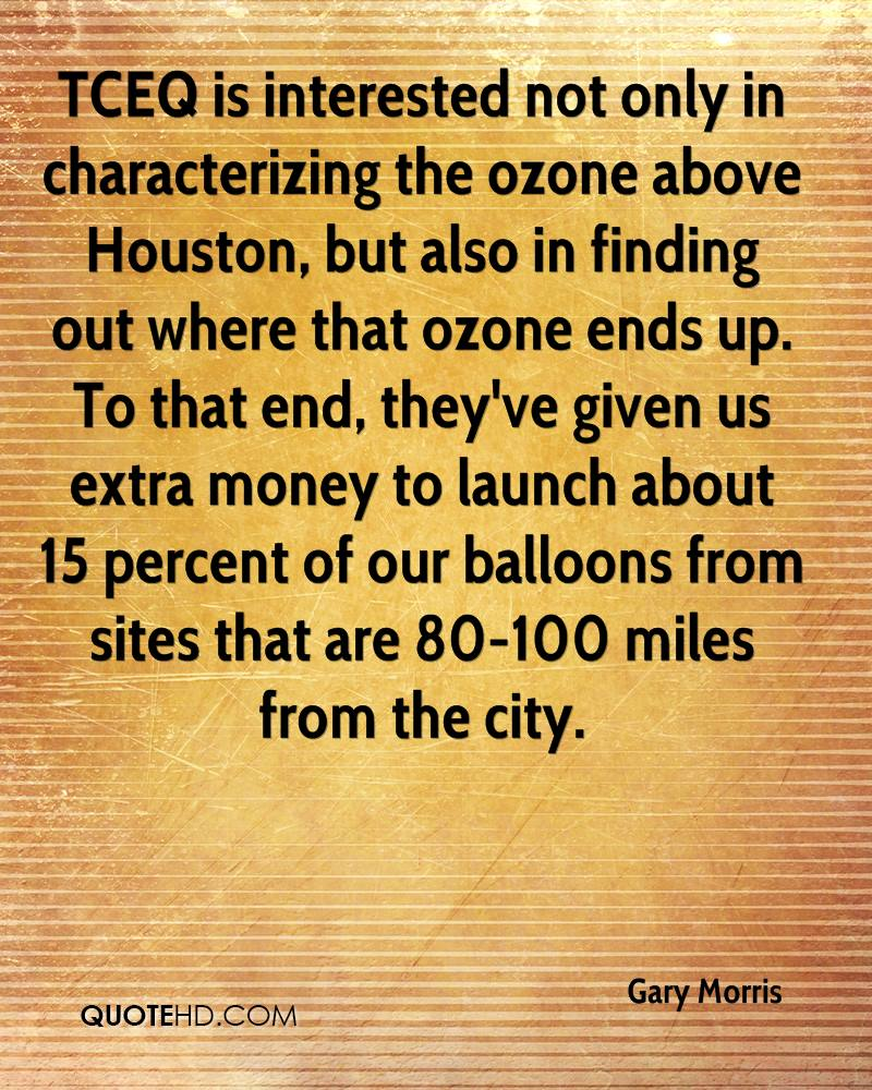 TCEQ is interested not only in characterizing the ozone above Houston, but also in finding out where that ozone ends up. To that end, they've given us extra money to launch about 15 percent of our balloons from sites that are 80-100 miles from the city.