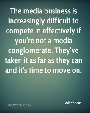 The media business is increasingly difficult to compete in effectively if you're not a media conglomerate. They've taken it as far as they can and it's time to move on.