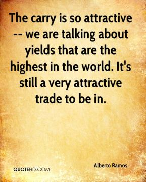 Alberto Ramos - The carry is so attractive -- we are talking about yields that are the highest in the world. It's still a very attractive trade to be in.